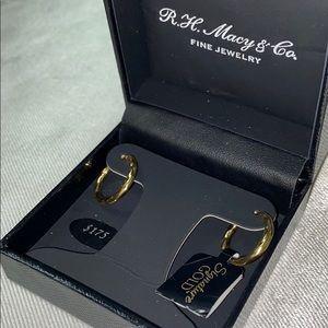 New 14k gold over resin core Macy & Co earrings